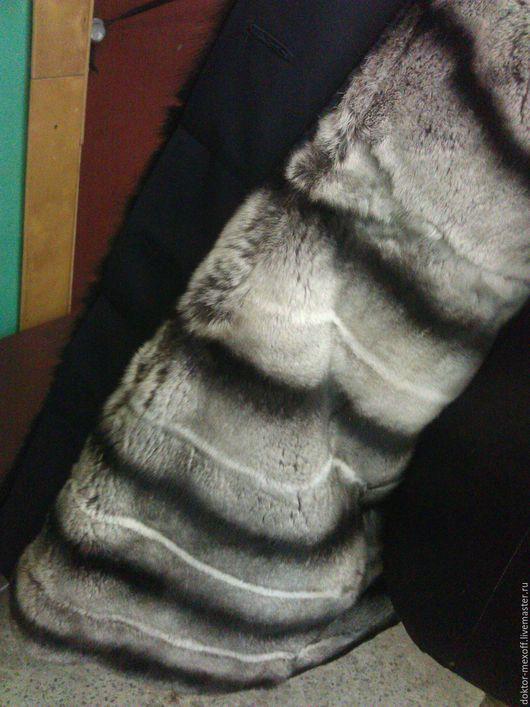 Верхняя одежда ручной работы. Ярмарка Мастеров - ручная работа. Купить Пальто женское с подстежкой из натурального меха. Handmade. серый