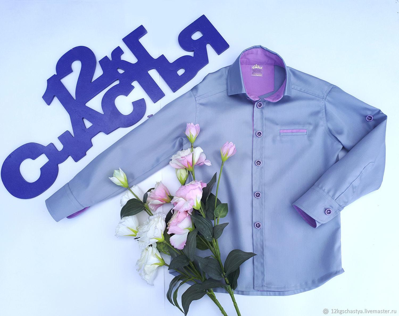 Одежда для мальчиков, ручной работы. Ярмарка Мастеров - ручная работа. Купить Рубашка для мальчика 'Стиляги' серая. Handmade. Рубашка, подтяжки