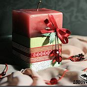 """Сувениры и подарки ручной работы. Ярмарка Мастеров - ручная работа Свеча """"Вишневый сироп"""". Handmade."""