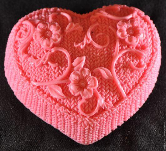 Мыло Сердце вязаное ручная работа.Прекрасный оригинальный подарок
