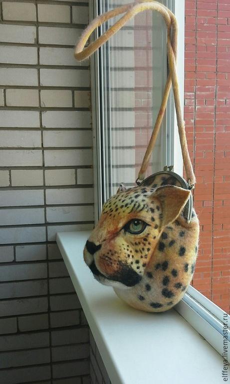 """Сумки и аксессуары ручной работы. Ярмарка Мастеров - ручная работа. Купить сумочка """"леопард"""". Handmade. Разноцветный, Экосумка, шерсть 100%"""