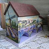 """Для дома и интерьера ручной работы. Ярмарка Мастеров - ручная работа Чайный домик """"Лавандовое поле"""". Handmade."""