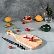 Посуда handmade. Livemaster - original item Wooden board made of a single piece of Siberian cedar wood RD51. Handmade.