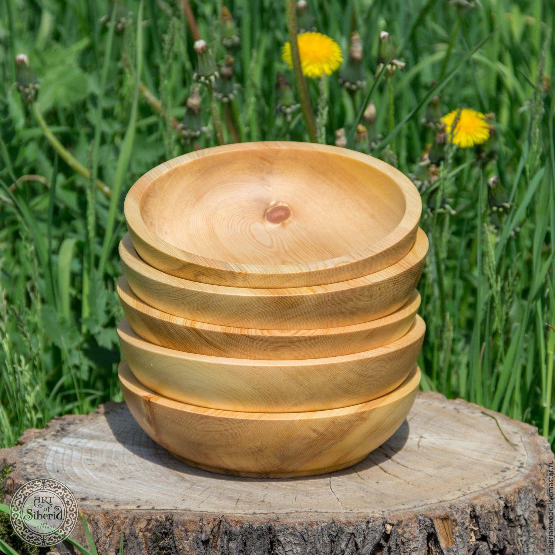 Pine Wooden Plates (5#15, Utensils, Novokuznetsk,  Фото №1