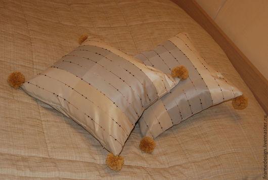 Текстиль, ковры ручной работы. Ярмарка Мастеров - ручная работа. Купить Подушки декоративные. Handmade. Серый цвет, подушки декоративные
