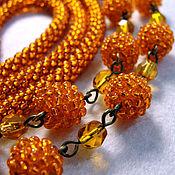 """Украшения ручной работы. Ярмарка Мастеров - ручная работа Бусы """"Orange!"""". Handmade."""