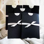 """Свадебный салон ручной работы. Ярмарка Мастеров - ручная работа Приглашения """"Черный кофе с молоком"""". Handmade."""