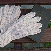 Аксессуары ручной работы. Ярмарка Мастеров - ручная работа Бежевые перчатки с аранскими узорами. Handmade.