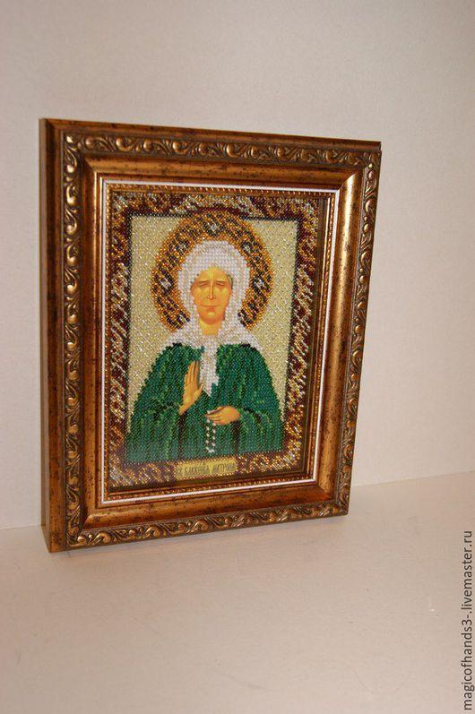 Икона Святой Матроны Московской.Это готовая работа. Иконы ручной работы на заказ.