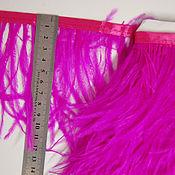Материалы для творчества handmade. Livemaster - original item Trim of ostrich feathers 10-15 cm fuxia. Handmade.