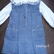 Материалы для творчества handmade. Livemaster - original item Dress jeans Melange for girl. spokes.. Handmade.