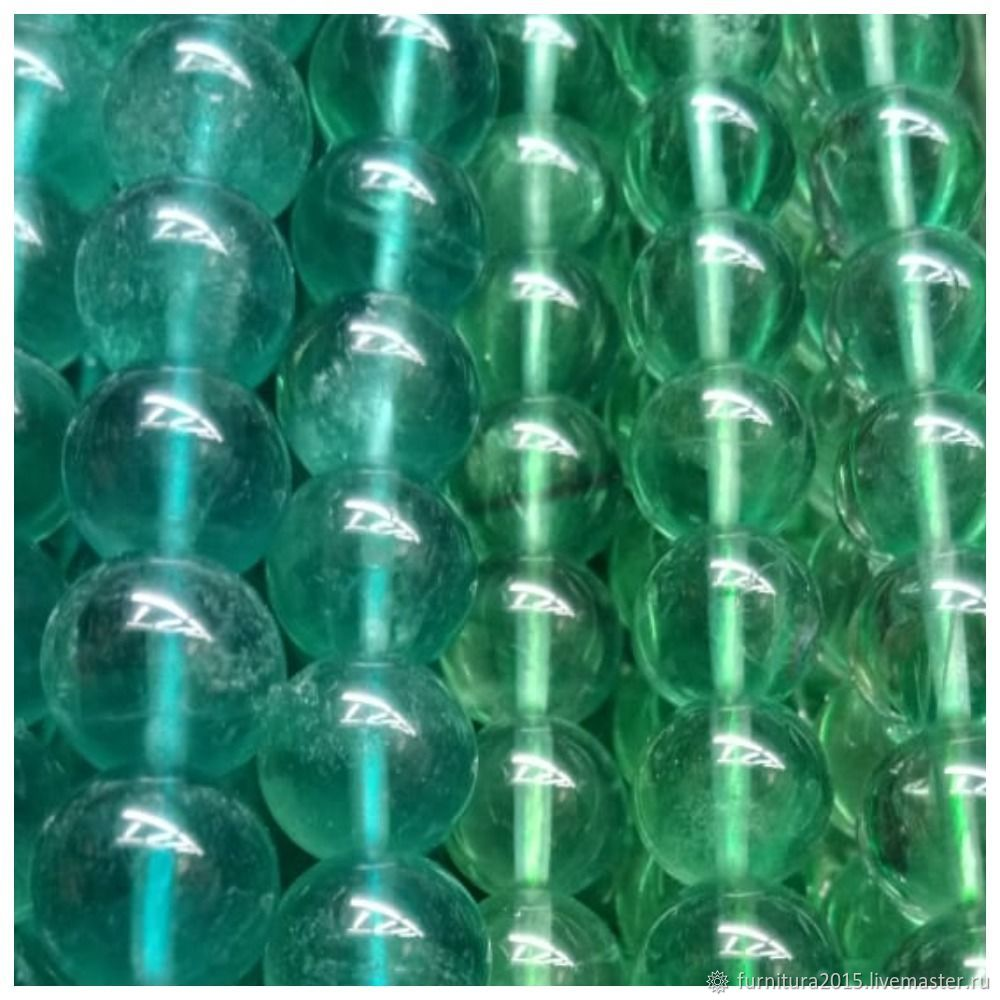 Флюорит 2 цвета синий, зеленый для украшений, Бусины, Саратов,  Фото №1