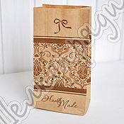 Материалы для творчества ручной работы. Ярмарка Мастеров - ручная работа Крафт-пакет 19х10х7 Handmade. Handmade.