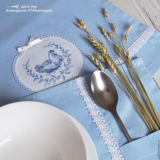 """Кухня ручной работы. Ярмарка Мастеров - ручная работа. Купить """"COUNTRY 3"""". Handmade. Голубой, курочка, текстиль для декора, хлопок"""