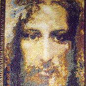 Картины и панно handmade. Livemaster - original item Hand embroidery beaded Shroud of Jesus Christ. Handmade.