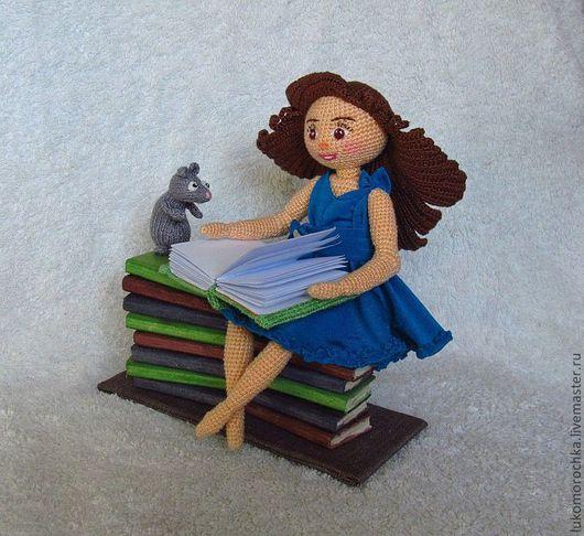 Портретные куклы ручной работы. Ярмарка Мастеров - ручная работа. Купить Жила-была одна девушка.... Handmade. Синий, куколка