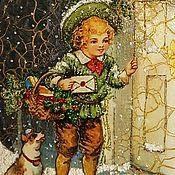 """Подарки к праздникам ручной работы. Ярмарка Мастеров - ручная работа Панно """"Святки"""". Handmade."""