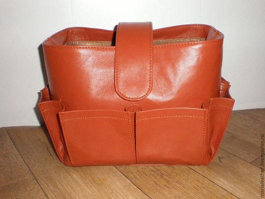 Женские сумки ручной работы. Ярмарка Мастеров - ручная работа. Купить Органайзер для сумки кожаный (ТИНТАМАР). Handmade. Рыжий