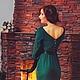 Платья ручной работы. Одри. Алёна Шичкина (DeLenn). Интернет-магазин Ярмарка Мастеров. Натуральные ткани, сочный цвет, зеленый