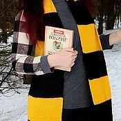 Аксессуары handmade. Livemaster - original item Scarf Harry Potter Puffenduya knitted Harry Potter scarf yellow. Handmade.