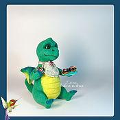 Куклы и игрушки ручной работы. Ярмарка Мастеров - ручная работа Валеная игрушка Дракоша. Handmade.
