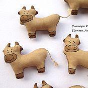 Куклы и игрушки handmade. Livemaster - original item Textile cow Moo. Handmade.