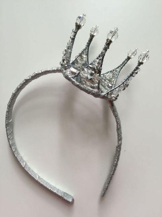 Детская бижутерия ручной работы. Ярмарка Мастеров - ручная работа. Купить Серебрянная Корона. Handmade. Принцесса, корона для принцессы, аксессуары