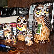 Русский стиль handmade. Livemaster - original item Matryoshka Owl. Handmade.