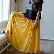 Одежда ручной работы. Ярмарка Мастеров - ручная работа Юбка летящая жёлтая из шифона. Handmade.