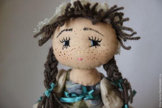 Человечки ручной работы. Ярмарка Мастеров - ручная работа. Купить текстильная кукла Глаша. Handmade. Тёмно-бирюзовый, текстильная игрушка