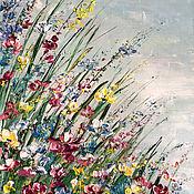 Картины и панно handmade. Livemaster - original item Flower oil Painting Multicolour. Handmade.