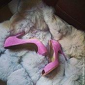Обувь ручной работы. Ярмарка Мастеров - ручная работа Нежные лиловые туфельки, открытый носик. Handmade.