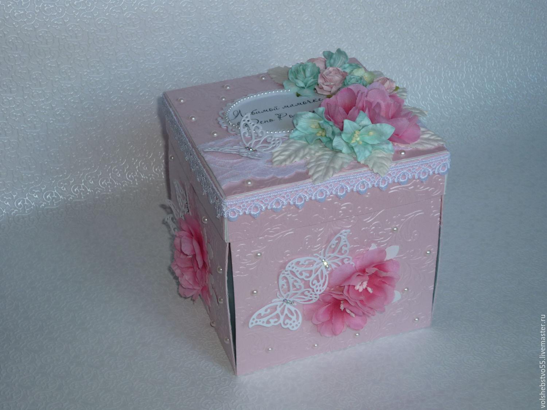 Как сделать большую коробку для подарка своими руками из бумаги