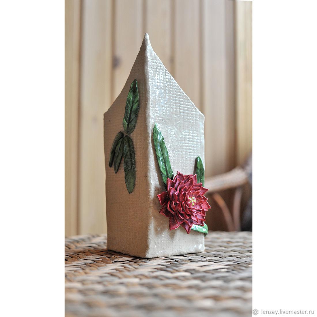 Vase Dahlias. Ceramics, Vases, Moscow,  Фото №1