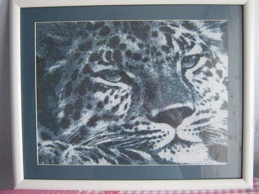 """Животные ручной работы. Ярмарка Мастеров - ручная работа. Купить Картина """"Барс"""". Handmade. Вышитая картина, вышитая картина крестиком"""