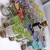 Материалы для творчества handmade. Livemaster - original item Minerals in bottles: lapis lazuli, citrine, chrysoprase, jade,chrysocolla.... Handmade.