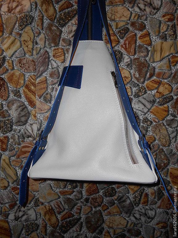 ... сумка · Женская сумка рюкзак из бежево-синей итальянской натуральной  кожи, Сумка женская кожаная, ... df00a22d2f8