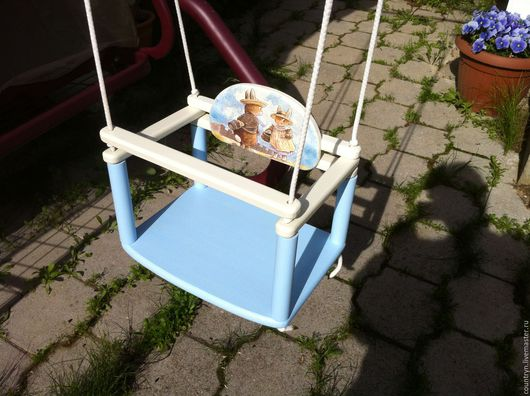 Детская ручной работы. Ярмарка Мастеров - ручная работа. Купить Качели детские. Handmade. Комбинированный, деревянная заготовка
