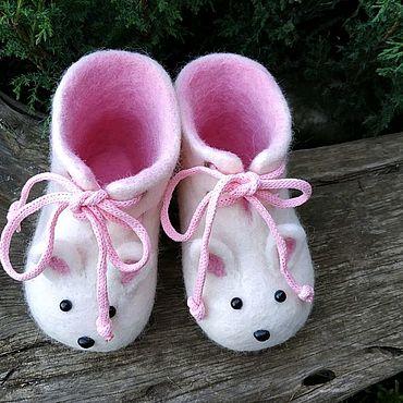 """Обувь ручной работы. Ярмарка Мастеров - ручная работа Пинетки валяные """"Ушки"""". Handmade."""