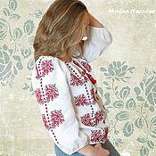 Одежда ручной работы. Ярмарка Мастеров - ручная работа Вышиванка женская ЯСНА Этническая одежда Украинская вышиванка Льняная. Handmade.