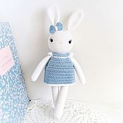 Куклы и игрушки handmade. Livemaster - original item Bunny in a dress. Knitted toy for girls. Handmade.