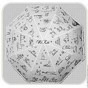 Аксессуары ручной работы. Ярмарка Мастеров - ручная работа Расписной зонт с котами Саймона. Handmade.