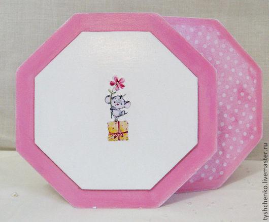 """Шкатулки ручной работы. Ярмарка Мастеров - ручная работа. Купить Шкатулка """"Розовые грезы"""". Handmade. Розовый, восьмигранная шкатулка"""