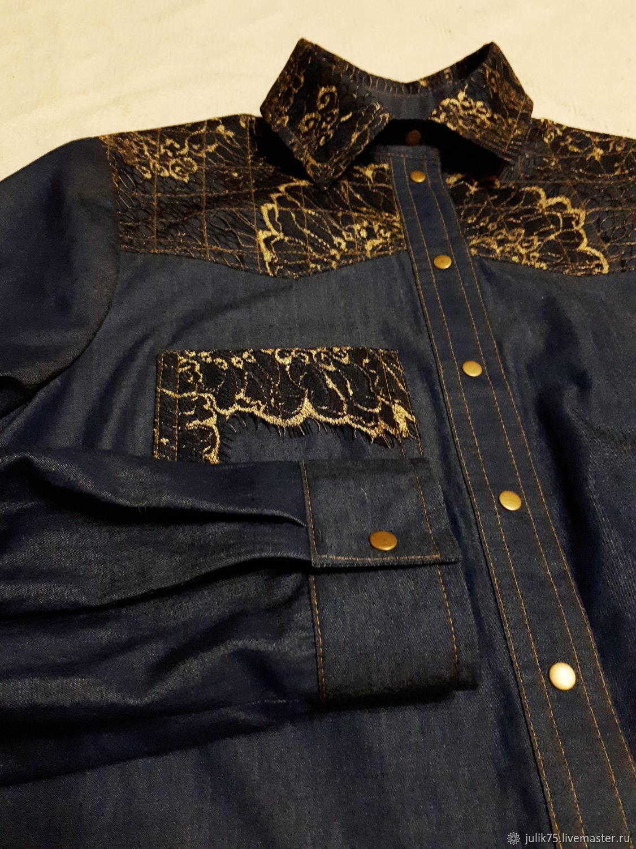 5d7d5ced65b Интернет-магазин Ярмарка Мастеров Блузки ручной работы. Заказать Джинсовая  рубашка. by Kulchenko Julia.