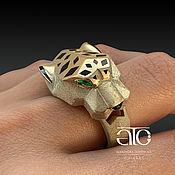 Украшения handmade. Livemaster - original item Ring: Men`s Jaguar ring. Gold 585.. Handmade.
