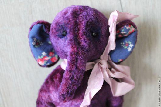 Мишки Тедди ручной работы. Ярмарка Мастеров - ручная работа. Купить Слоник фиолетовый. Handmade. Тёмно-фиолетовый, слон тедди