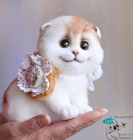 Куклы и игрушки ручной работы. Ярмарка Мастеров - ручная работа. Купить Кошечка Ласка. Handmade. Кошка, интерьерная игрушка, кружево