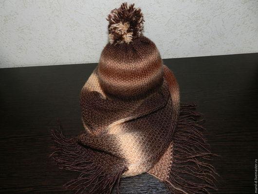 """Шапки ручной работы. Ярмарка Мастеров - ручная работа. Купить Комплект зимний  для мальчика """" Шапка и шарф """". Handmade."""
