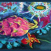 Картины и панно ручной работы. Ярмарка Мастеров - ручная работа Питахойя или Экзотический натюрморт. Handmade.