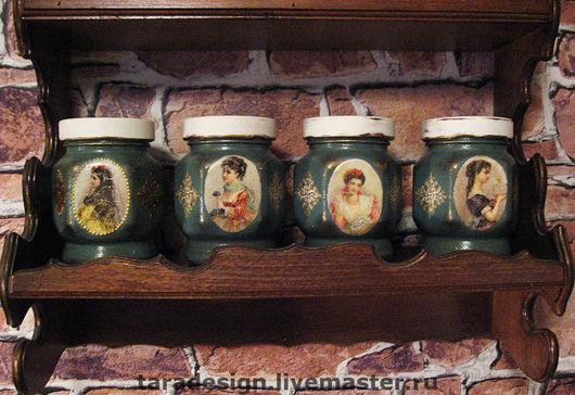 Кухня ручной работы. Ярмарка Мастеров - ручная работа. Купить Баночки для специй (чая, орехов, сухофруктов, да чего угодно!). Handmade.